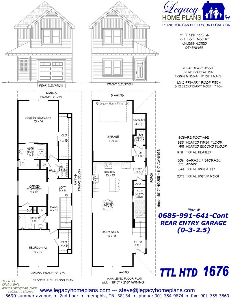 Legacy home plans for Rear entry house plans